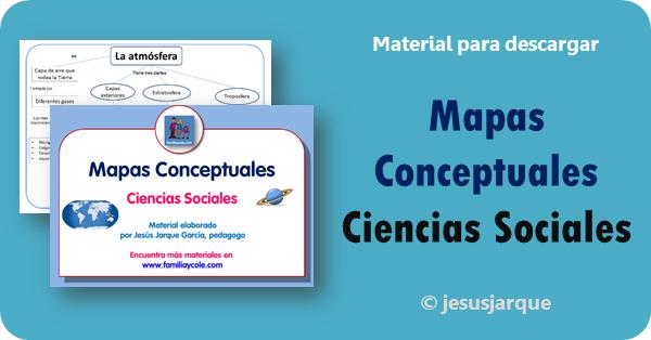 Mapas conceptuales de Ciencias Sociales para descargar elaborados por Jesús Jarque
