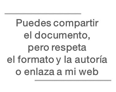 Normas para usar el documento Pautas para reforzar la grafomotricidad, de Jesús Jarque