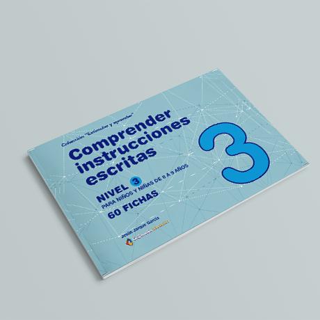 Cuaderno de comprensión instrucciones escritas nivel 3
