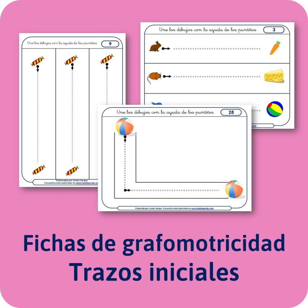 Materiales para Educación Infantil de Grafomotricidad, trazos iniciales