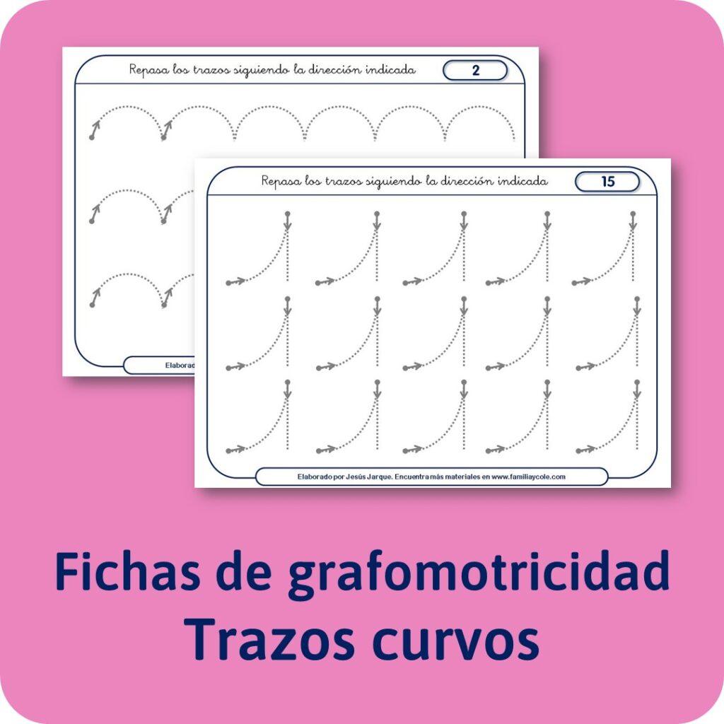 Materiales para Educación Infantil de Grafomotricidad, trazos curvos