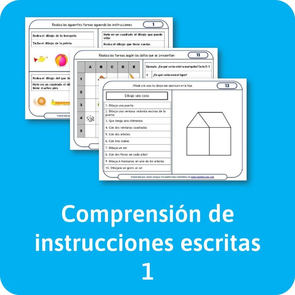 Materiales de lectura de comprensión de instrucciones escritas