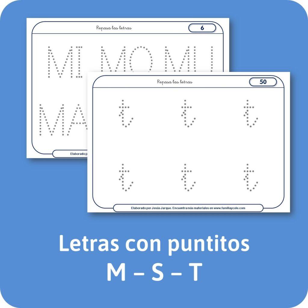 Escritura de letras consonantes con puntitos