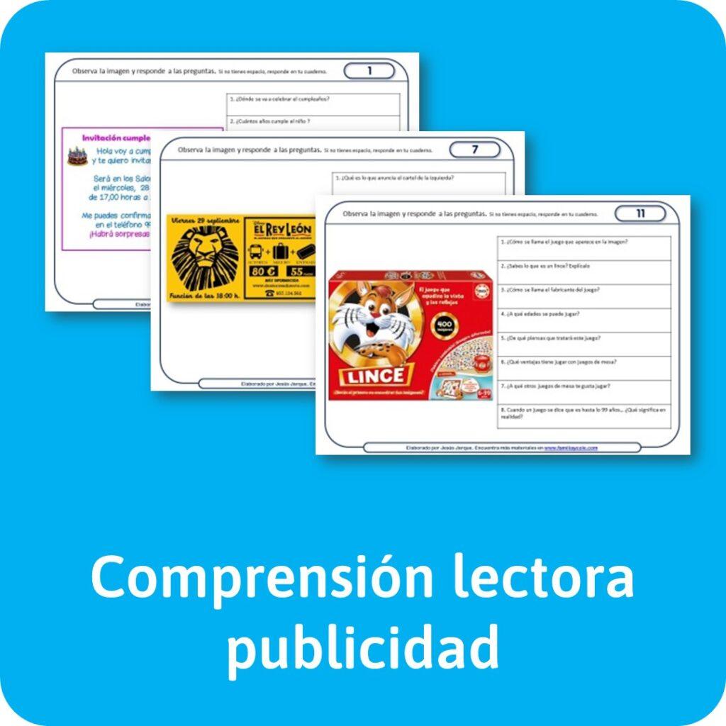 Materiales de lectura de comprensión de anuncios publicitarios