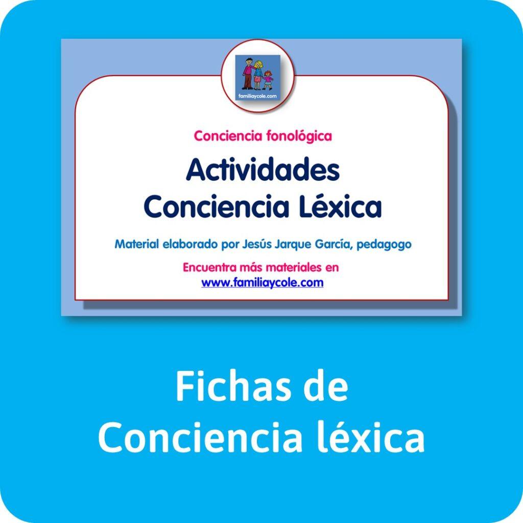 Fichas de conciencia léxica para descargar gratis