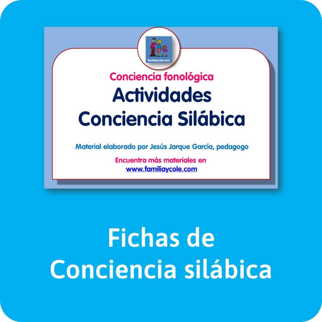 Fichas de conciencia silábica para descargar gratis