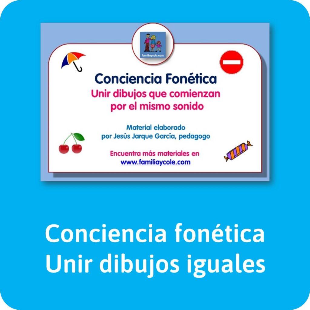 Fichas de conciencia fonética para descargar gratis
