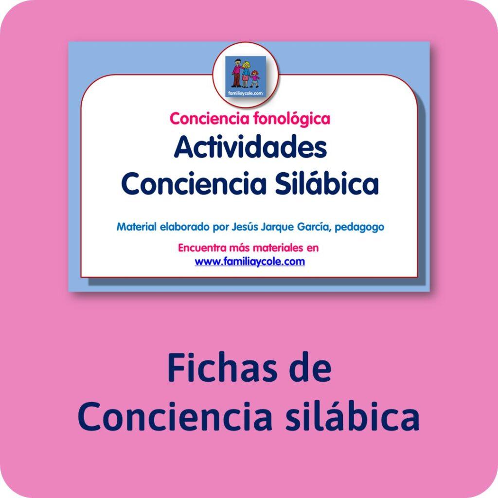 Materiales para Educación Infantil de conciencia fonológica: sílabas