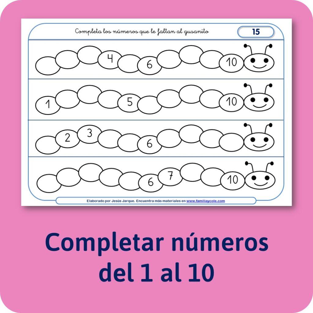 Materiales para Educación Infantil de numeración.