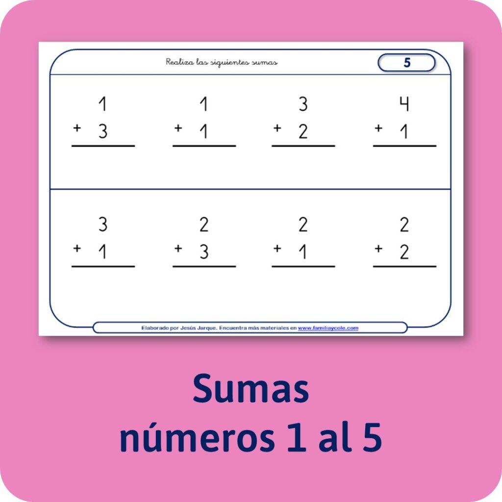 Materiales para Educación Infantil de sumas.