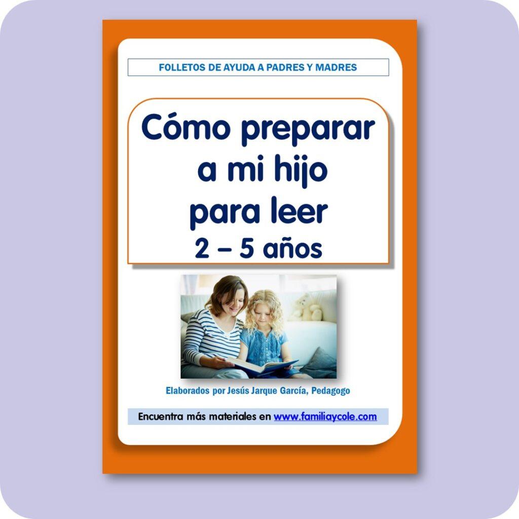 Folletos para familias: Cómo preparar a mi hijo para leer