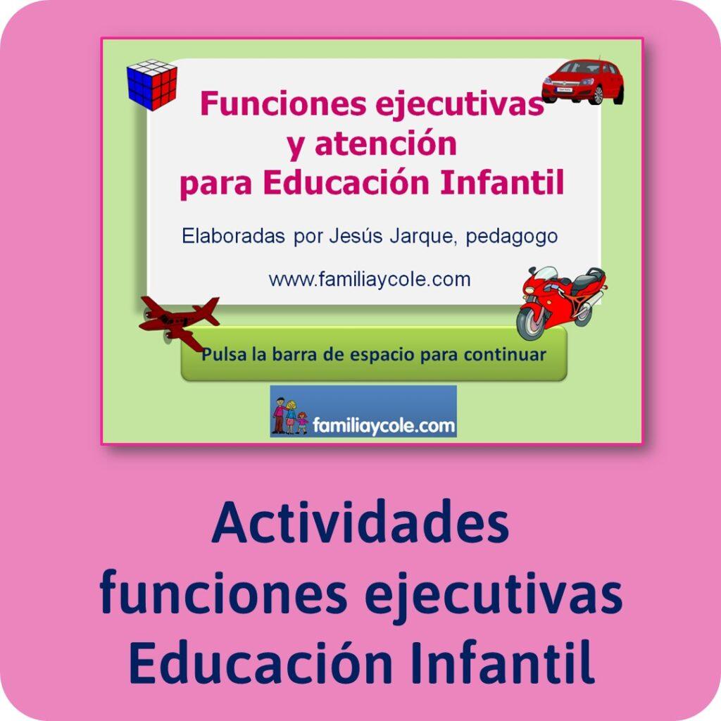 Materiales para Educación Infantil de funciones ejecutivas.