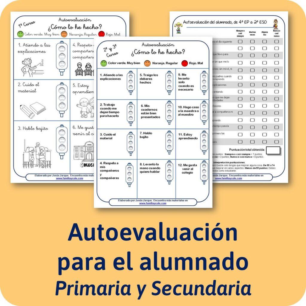 Cuestionarios de autoevaluación para alumnos de primaria y secundaria
