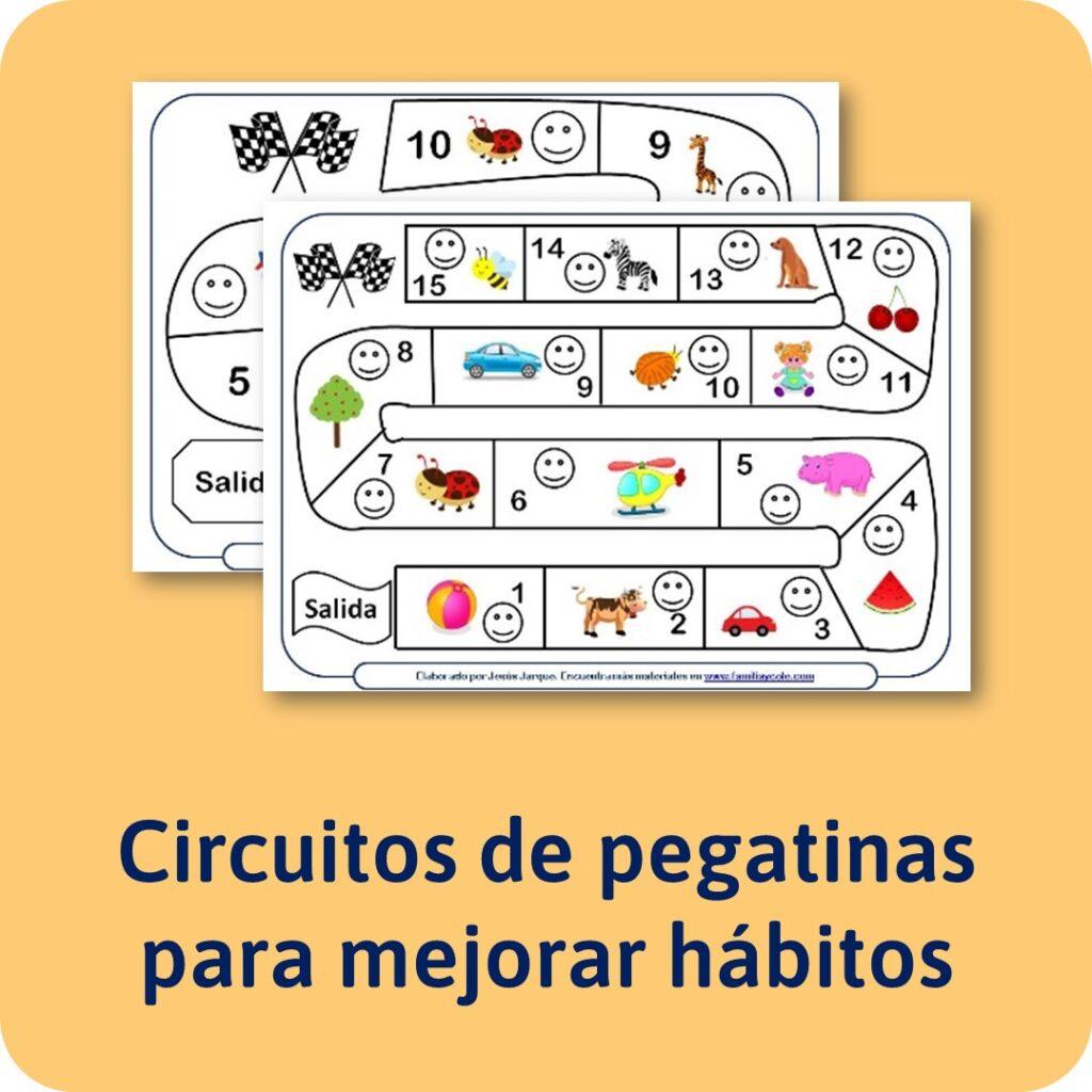 Circuitos de puntos para mejorar los hábitos y conductas en niños