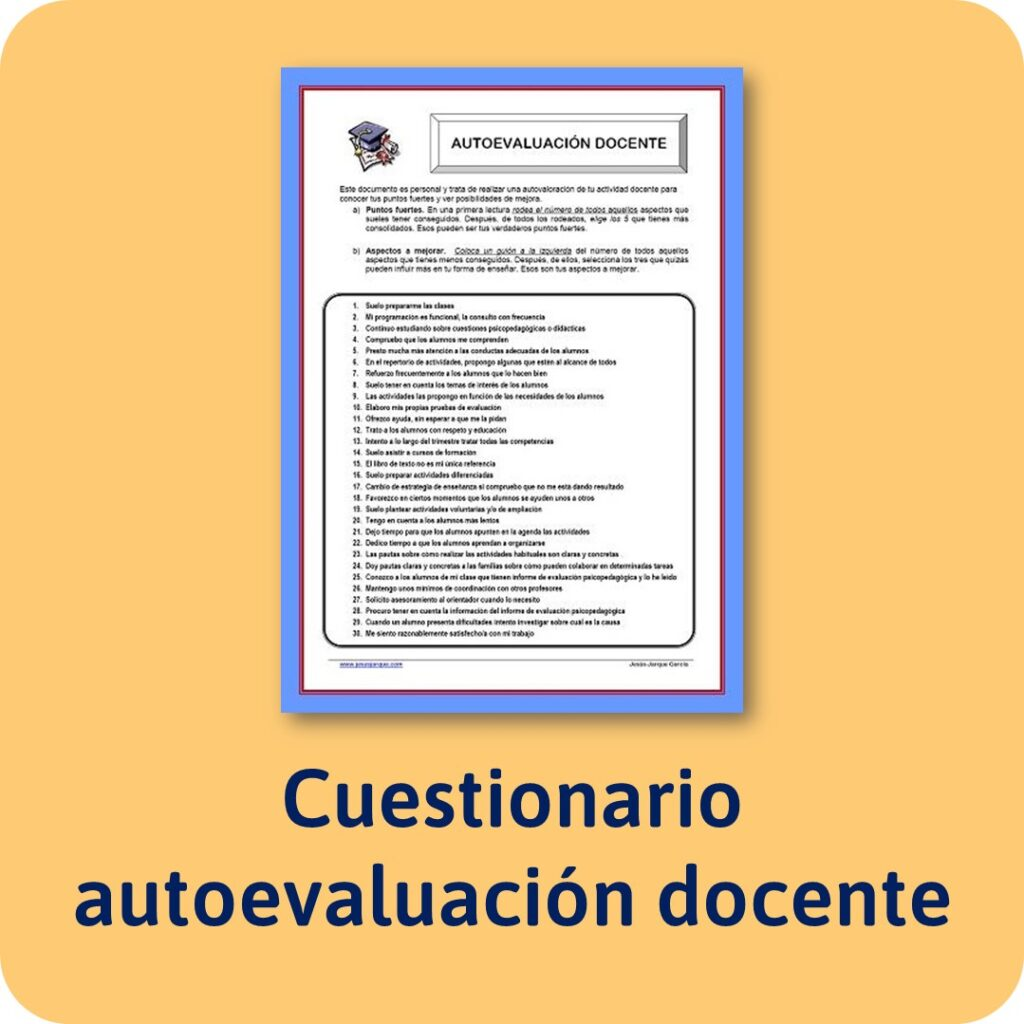 Cuestionario de autoevaluación docente