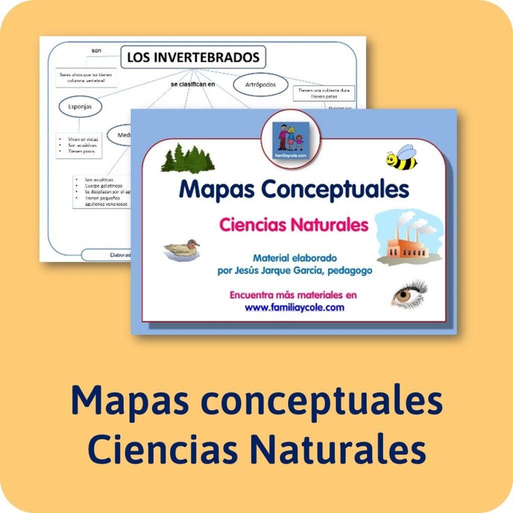 Mapas conceptuales Ciencias Naturales