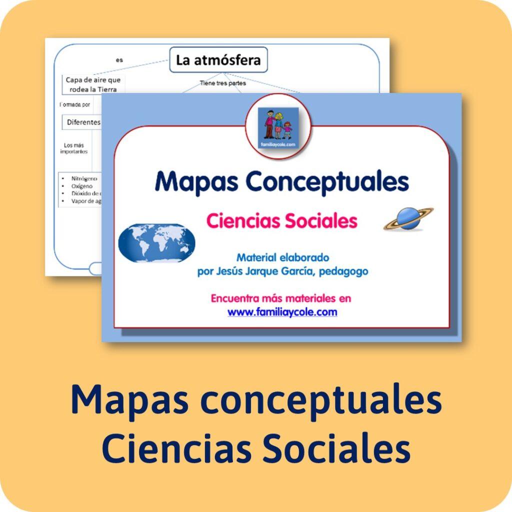 Mapas conceptuales de Ciencias Sociales y Conocimiento del Medio para descargar e imprimir