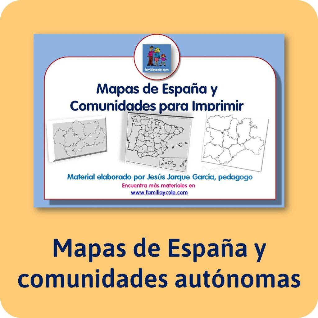 Mapas de España y las comunidades autónomas para imprimir