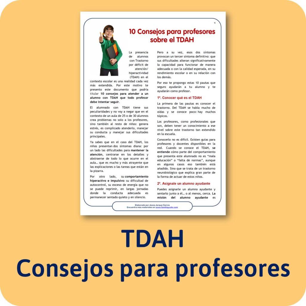 Consejos para profesores con alumnos con TDAH