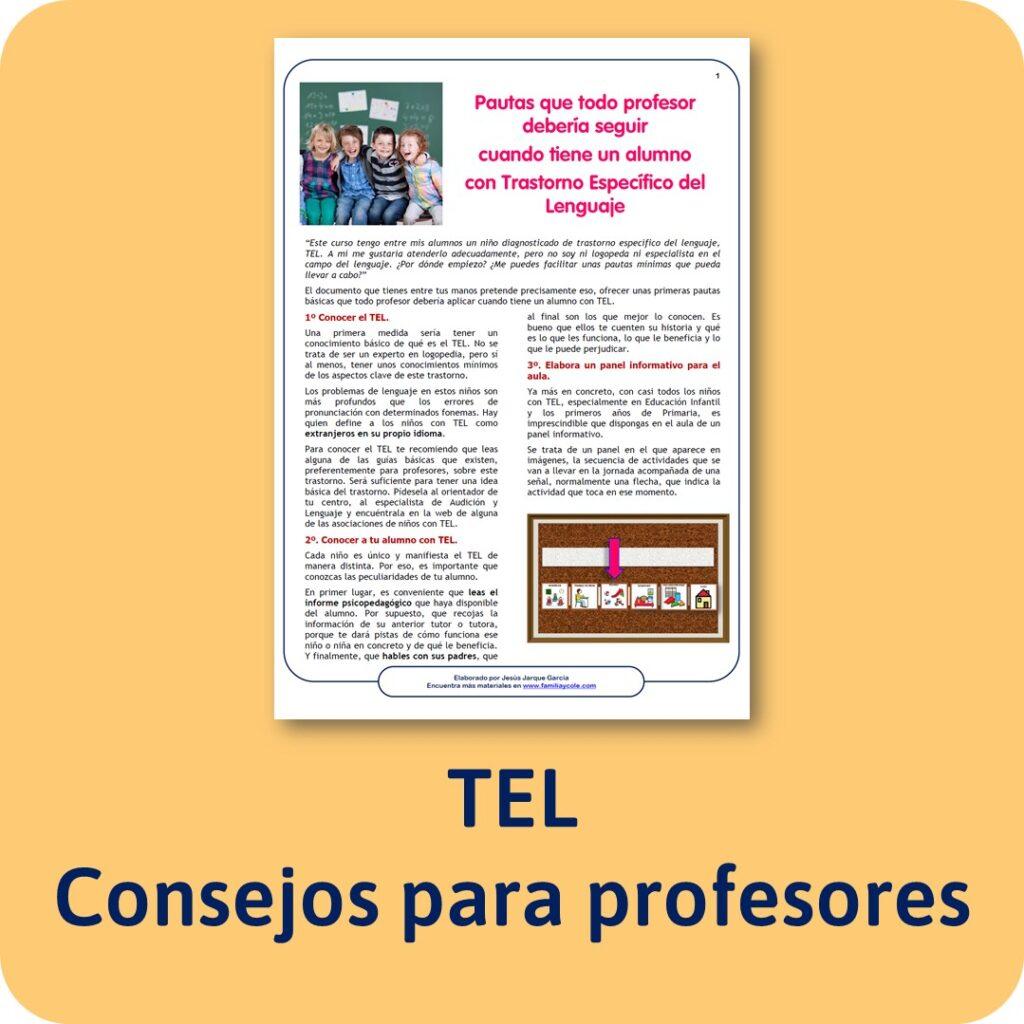 Consejos para profesores con alumnos con TEL o trastorno específico del lenguaje